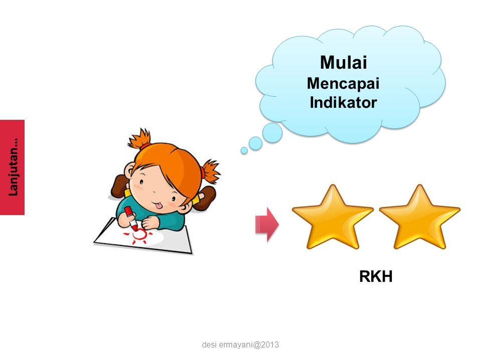 Lanjutan… desi ermayani@2013 Sesuai dengan Indikator Sesuai dengan Indikator RKH