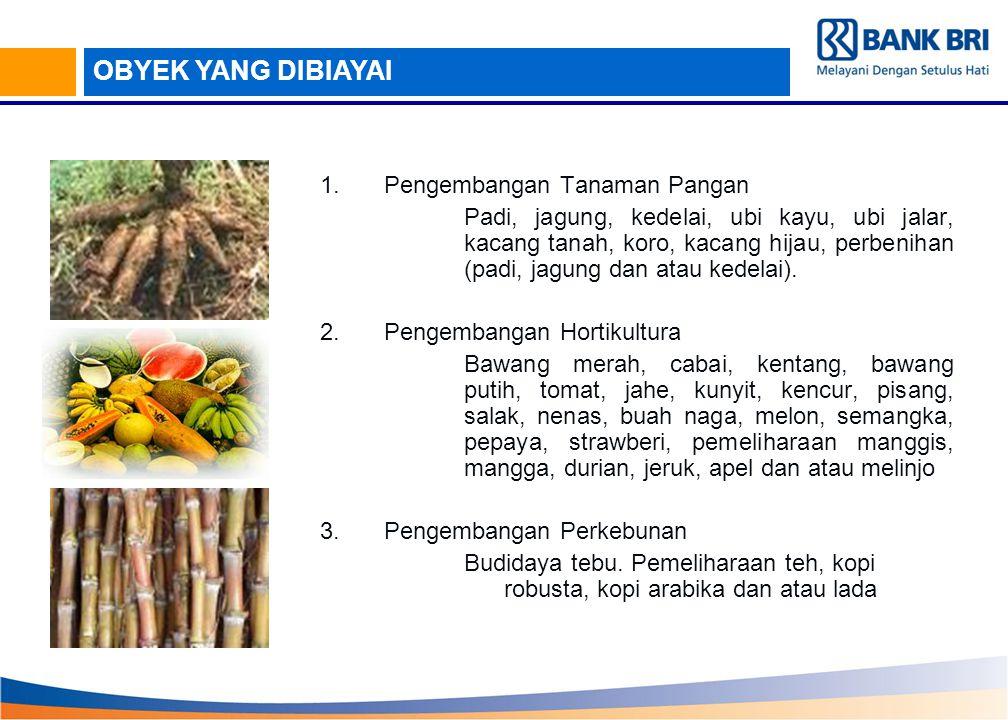 1.Pengembangan Tanaman Pangan Padi, jagung, kedelai, ubi kayu, ubi jalar, kacang tanah, koro, kacang hijau, perbenihan (padi, jagung dan atau kedelai)