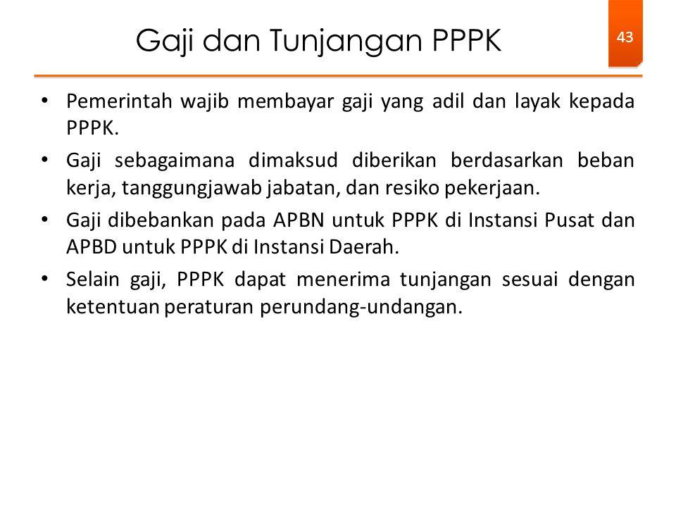 Pemerintah wajib membayar gaji yang adil dan layak kepada PPPK.