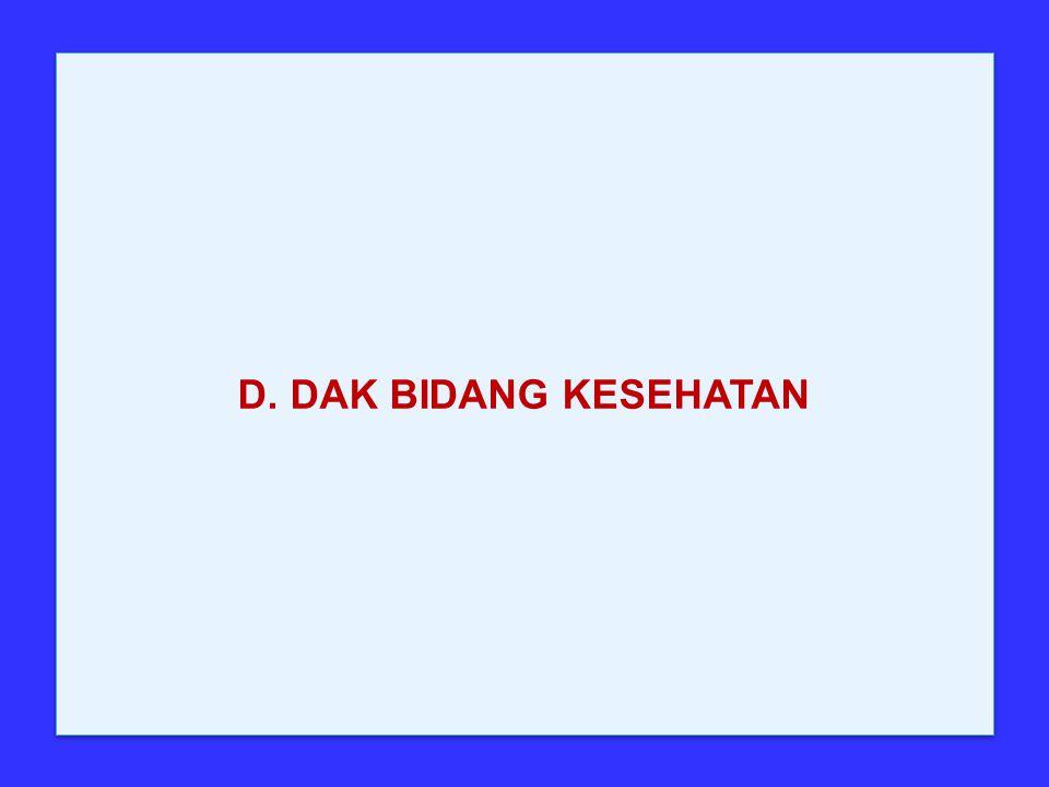 D. DAK BIDANG KESEHATAN
