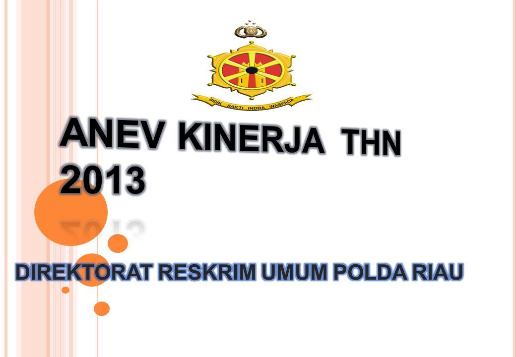 ANEV KINERJA DITRESKRIMUM TH 2013 1 BIN-OPS / WAS DAN ANGGRN 2013 2 EV KINERJA& INOVASI TH.
