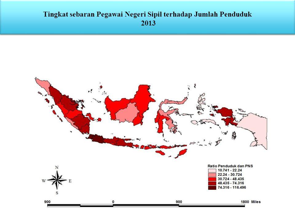 Tingkat sebaran Pegawai Negeri Sipil terhadap Jumlah Penduduk 2013 Tingkat sebaran Pegawai Negeri Sipil terhadap Jumlah Penduduk 2013