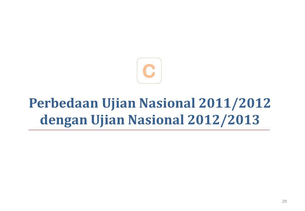 Perbedaan Ujian Nasional 2011/2012 dengan Ujian Nasional 2012/2013 C 29