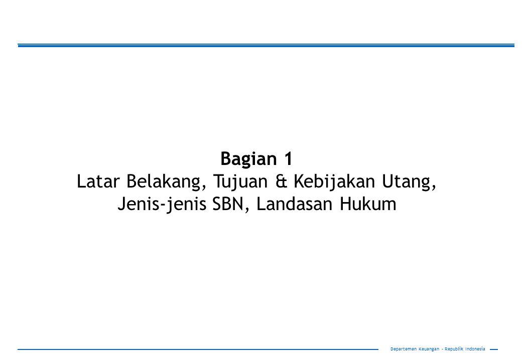 37 Biaya Pinjaman Program *) Keterangan: Bank Dunia mengenakan Front End Fee ADB mengenakan Comitment Fee Dibandingkan SBN, Pinjaman Luar Negeri biayanya relatif murah dan tenornya lebih panjang Departemen Keuangan – Republik Indonesia