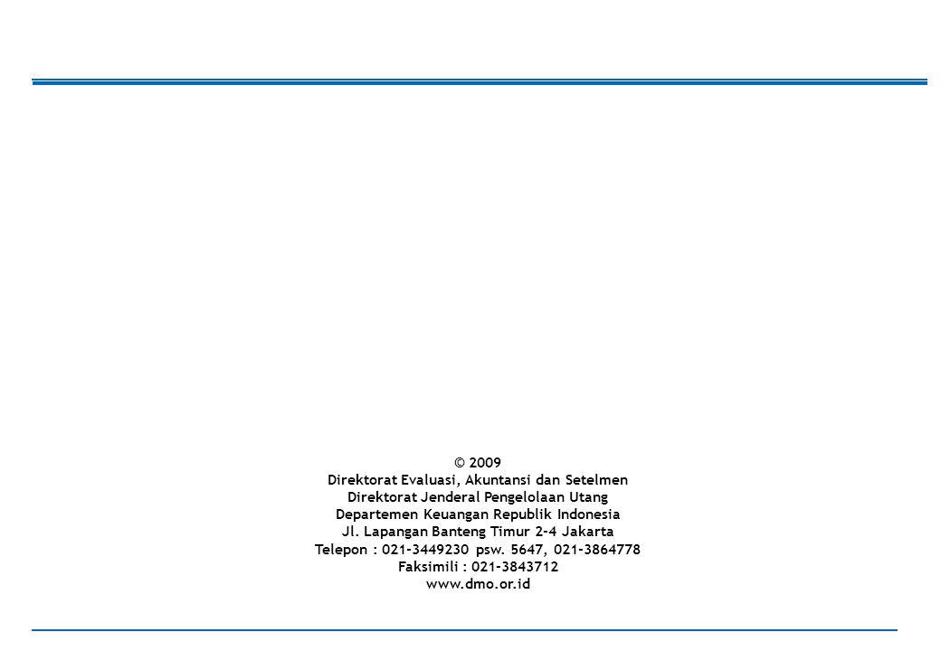 61 © 2009 Direktorat Evaluasi, Akuntansi dan Setelmen Direktorat Jenderal Pengelolaan Utang Departemen Keuangan Republik Indonesia Jl.