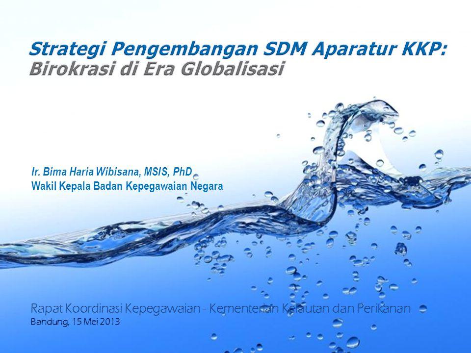 Page 1 Ir. Bima Haria Wibisana, MSIS, PhD Wakil Kepala Badan Kepegawaian Negara