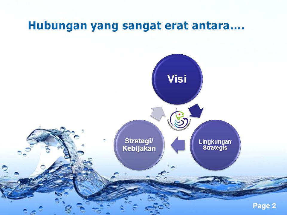 Page 2 Visi Lingkungan Strategis Strategi/ Kebijakan
