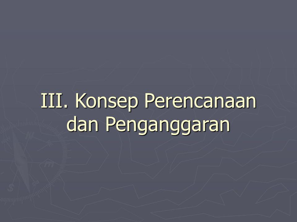 III. Konsep Perencanaan dan Penganggaran