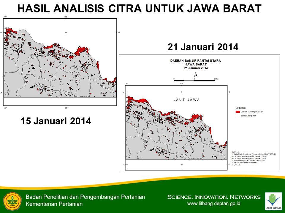 HASIL ANALISIS CITRA UNTUK JAWA BARAT 15 Januari 2014 21 Januari 2014