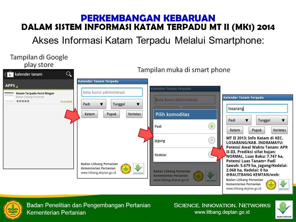 Akses Informasi Katam Terpadu Melalui Smartphone: PERKEMBANGAN KEBARUAN DALAM SISTEM INFORMASI KATAM TERPADU MT II (MK1) 2014