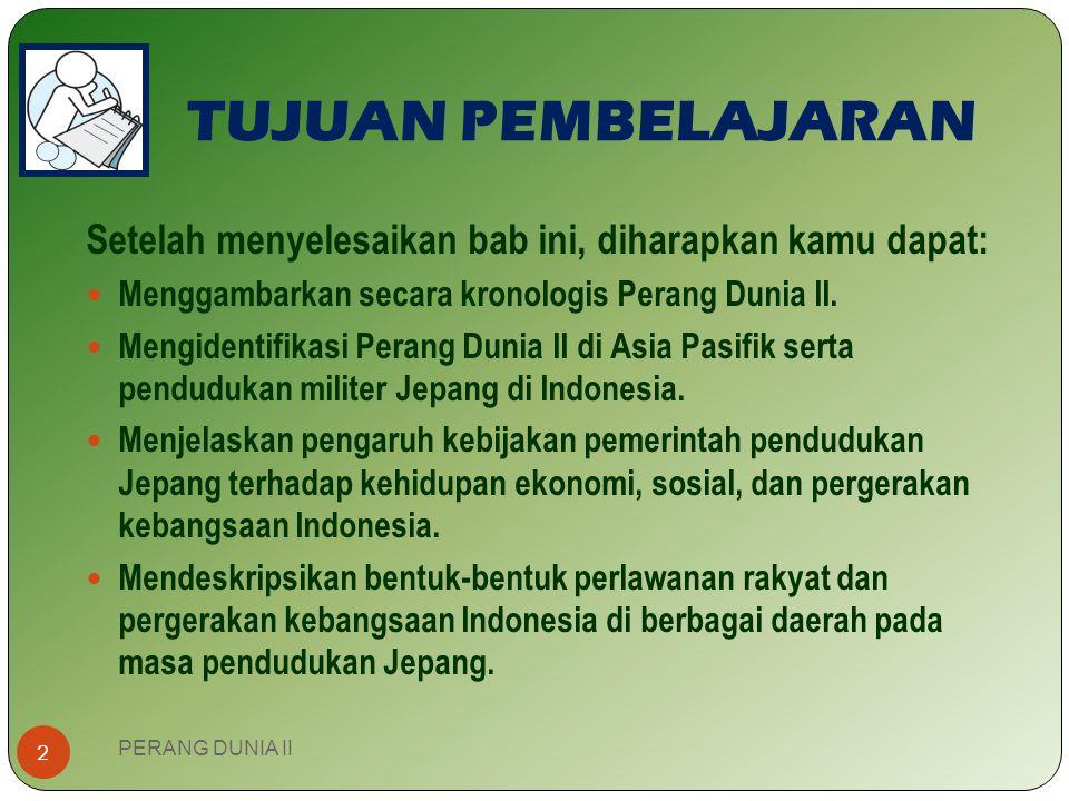Bambang Arif Hartono, S.Pd. Guru IPS-Sejarah SMP 1 Karangmojo P erang d unia ii