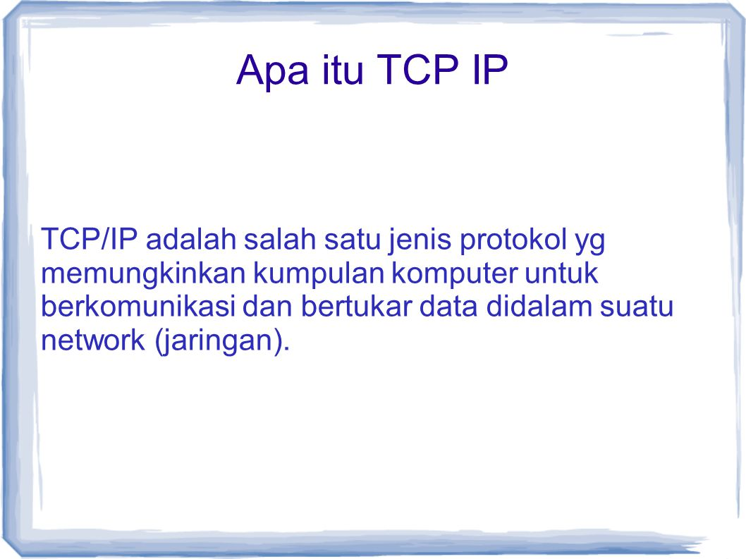 IP Header Source address = alamat asal datagram.