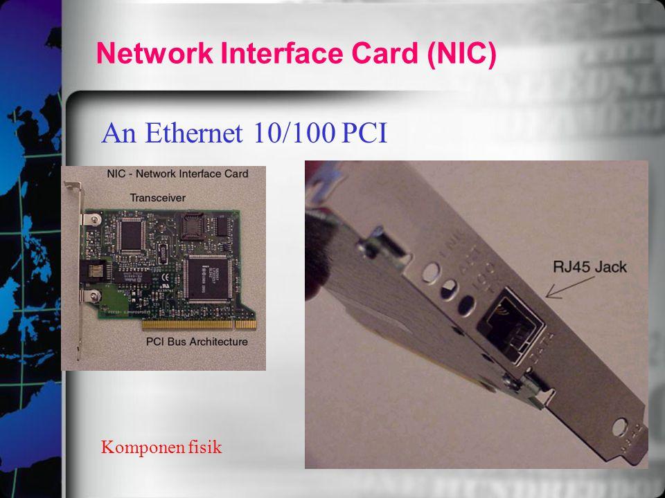 Network Interface Card (NIC) An Ethernet 10/100 PCI Komponen fisik