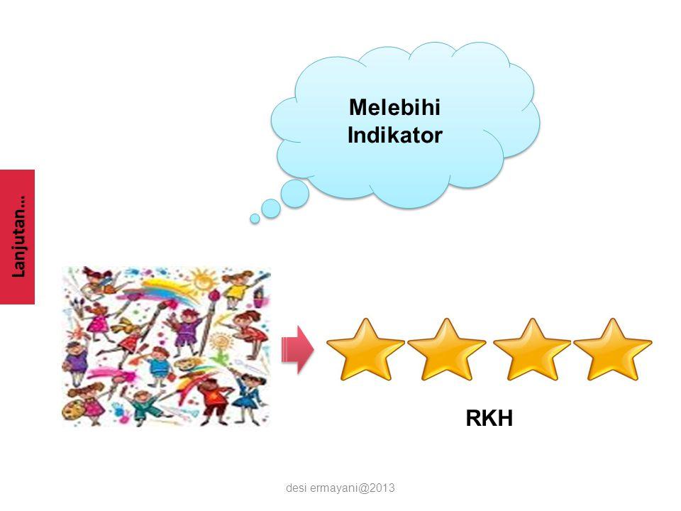 Lanjutan… desi ermayani@2013 Melebihi Indikator RKH