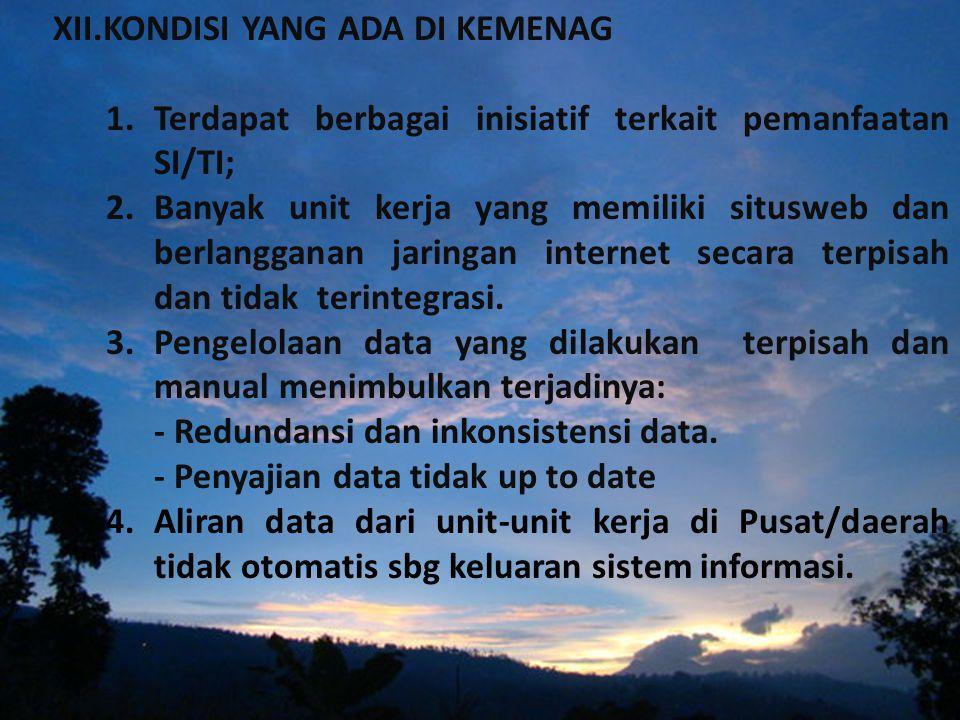 XI. PRIORITAS PROGRAM YANG DIPERLUKAN (INTEGRASI SISTEM & JARINGAN)  Integrasi Jaringan; -menyatukan leases line  Integrasi Website; -standarisasi w