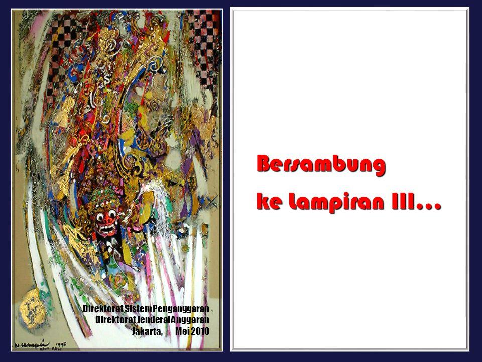 Direktorat Sistem Penganggaran Direktorat Jenderal Anggaran Jakarta, Mei 2010 Bersambung ke Lampiran III...