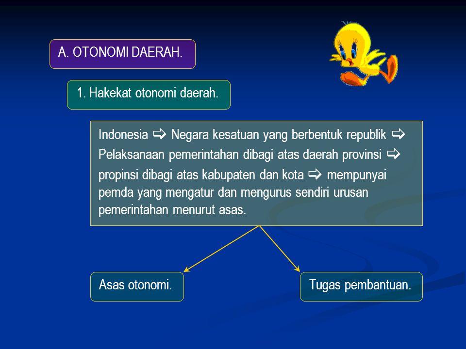 A.OTONOMI DAERAH. 1. Hakekat otonomi daerah.
