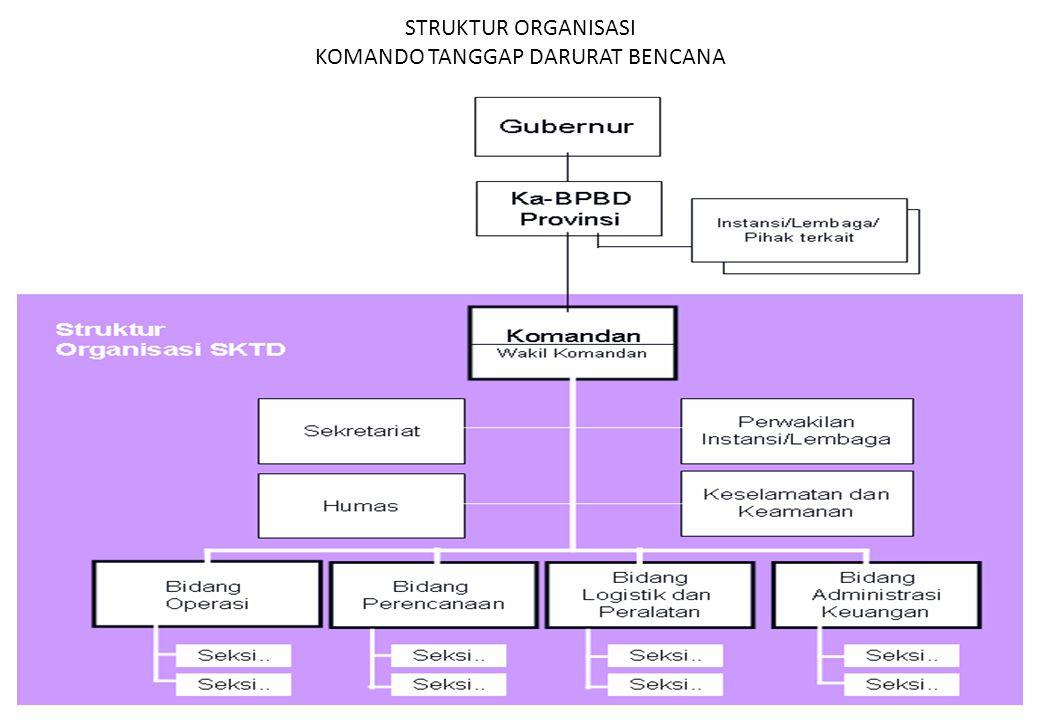 STRUKTUR ORGANISASI KOMANDO TANGGAP DARURAT BENCANA