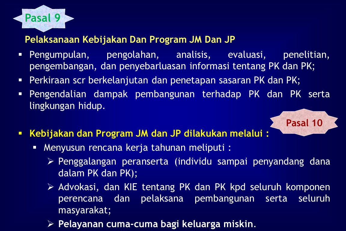 KEWENANGAN PEMERINTAH  Menetapkan kebijakan dan program jangka menengah dan jangka panjang (PK dan PK).  Mengintegrasikan PJM dan PJP dalam PJM dan