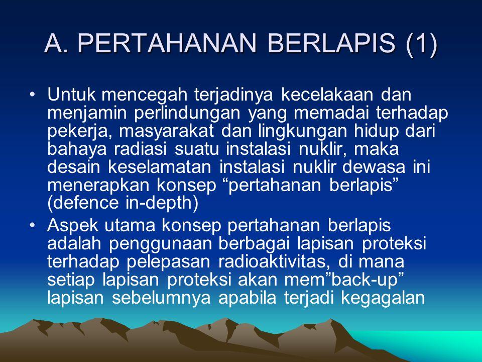 A. PERTAHANAN BERLAPIS (1) Untuk mencegah terjadinya kecelakaan dan menjamin perlindungan yang memadai terhadap pekerja, masyarakat dan lingkungan hid