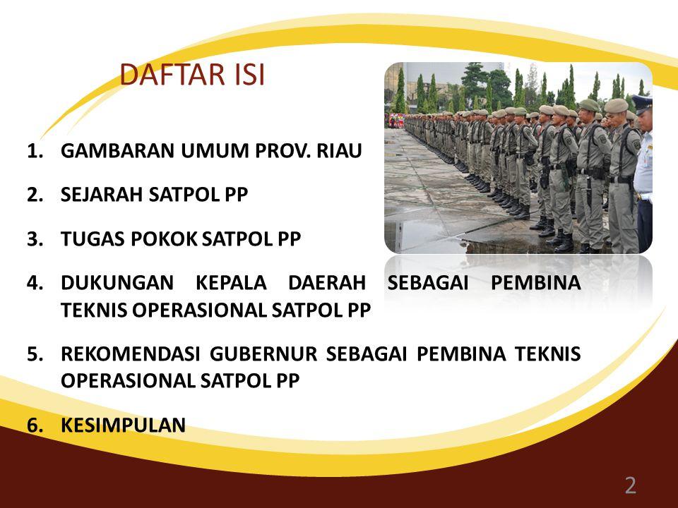DAFTAR ISI 1.GAMBARAN UMUM PROV.