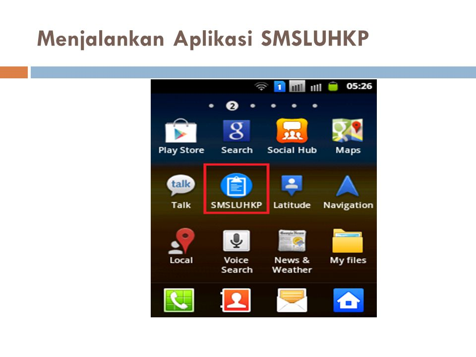 Menjalankan Aplikasi SMSLUHKP