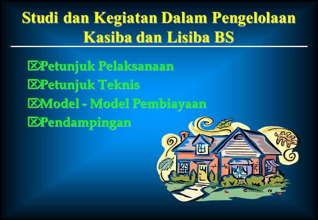 Studi dan Kegiatan Dalam Pengelolaan Kasiba dan Lisiba BS  Petunjuk Pelaksanaan  Petunjuk Teknis  Model - Model Pembiayaan  Pendampingan