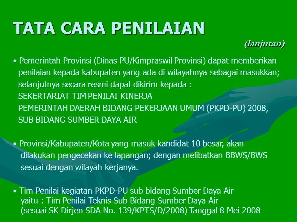 Aspek Fisik, terdiri dari : (lanjutan) 5.Pelaksanaan OP Irigasi dan Rawa 5.2.