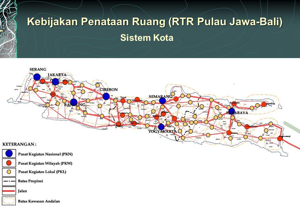 Kebijakan Penataan Ruang (RTR Pulau Jawa-Bali) Sistem Kota