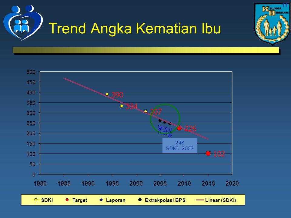 Trend Angka Kematian Ibu 11 248 SDKI 2007