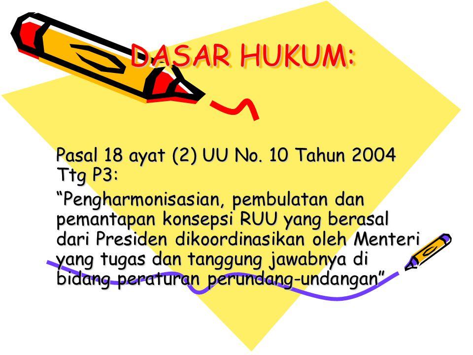 DASAR HUKUM: Pasal 18 ayat (2) UU No.