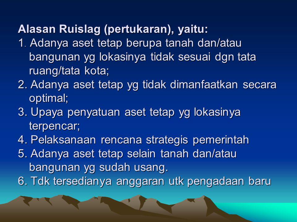 DASAR : 1.PP Nomor 6 Tahun 2006 Ttg Pengelolaan BMN/Daerah.