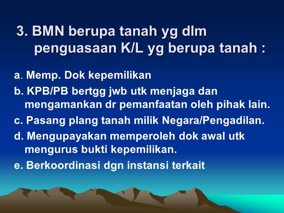 2.BMN dlm kondisi RB namun masih tercatat dlm daftar BMN a.