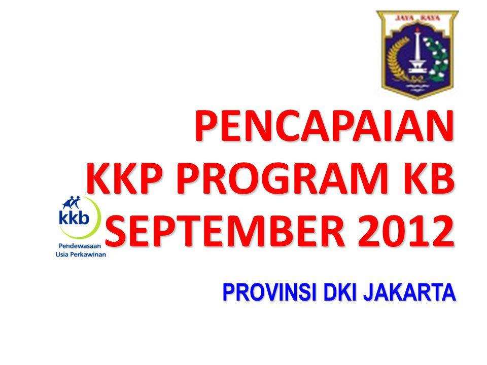 PENCAPAIAN KKP PROGRAM KB SEPTEMBER 2012 PROVINSI DKI JAKARTA