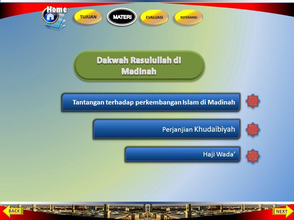 Hijrah Ke Madinah. Tersebarnya agama Islam di Madinah menyebabkan kaum Quraisy semakin ganas. Muhammad memutuskan untuk hijrah bersama pengikutnya ke
