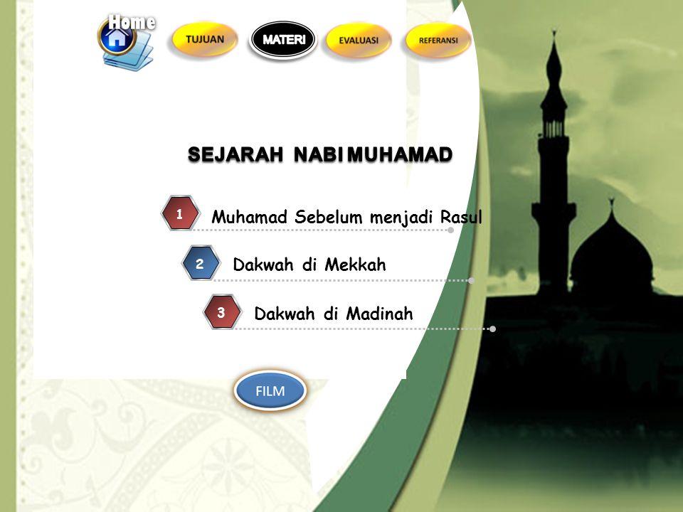 Memahami sejarah Nabi Muhammad SAW 1.Menjelaskan sejarah Nabi Muhammad SAW 2.Menjelaskan misi nabi Muhammad untuk semua manusia dan bangsa 1.Menjelask