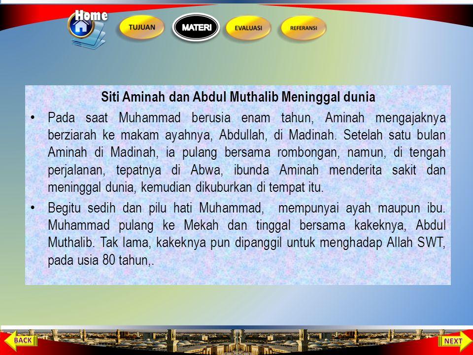 Disusukan kepada Halimah binti Abi Dhuaib Pada hari ke-8 dari kelahirannya, Muhammad diserahkan kepada keluarga Saad yang bernama Halimah binti Abi Dh