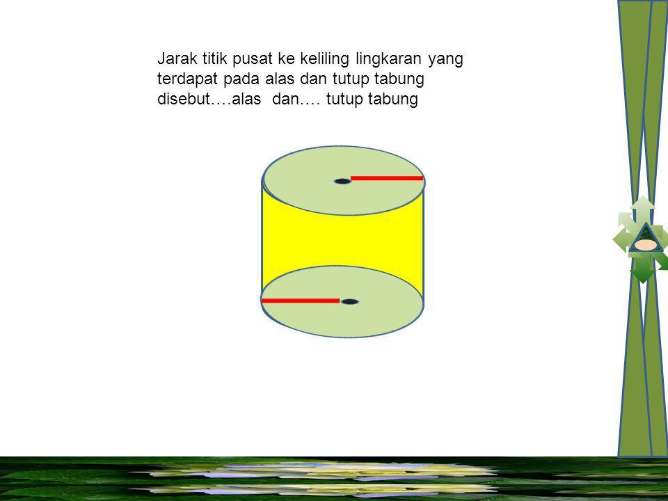 Garis yang merupakan jarak alas tabung dan tutup tabung disebut….tabung