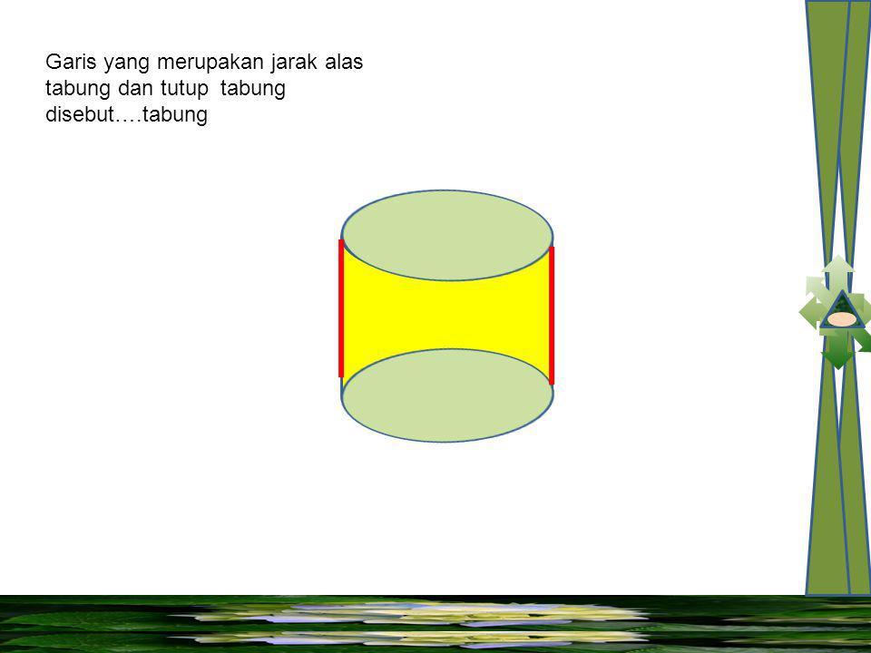 Sisi bawah dan sisi atas tabung disebut….dan ….tabung