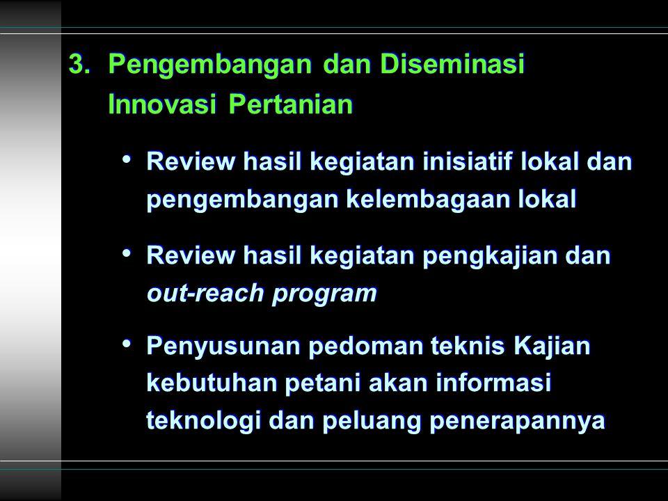 3.Persiapan Penutupan Kegiatan P4MI: a. Penyusunan Strategi Suksesi Kegiatan P4MI b.