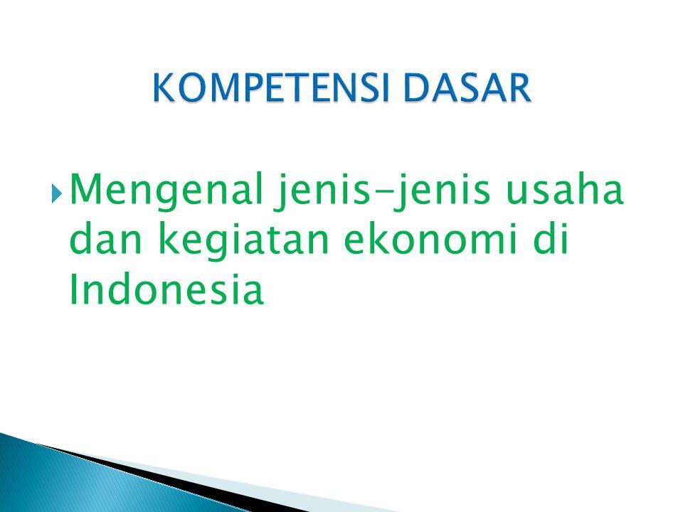  Mengenal jenis-jenis usaha dan kegiatan ekonomi di Indonesia