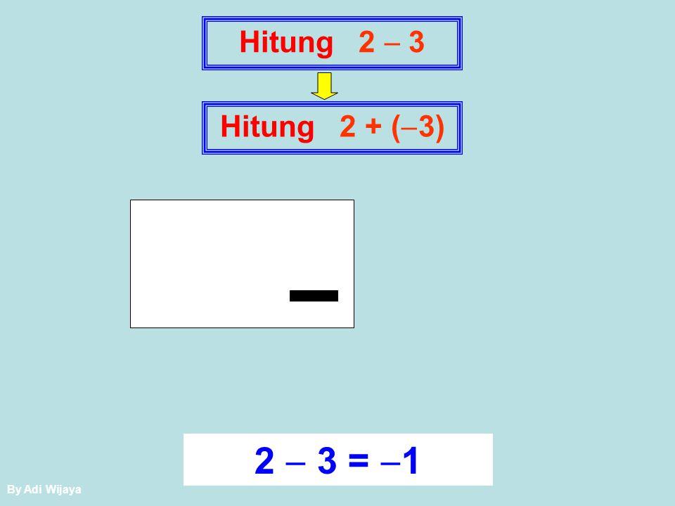 Penjumlahan dan Pengurangan Dua Bilangan Bulat (pendekatan muatan) KESEPAKATAN: Operasi yang digunakan adalah operasi penjumlahan.
