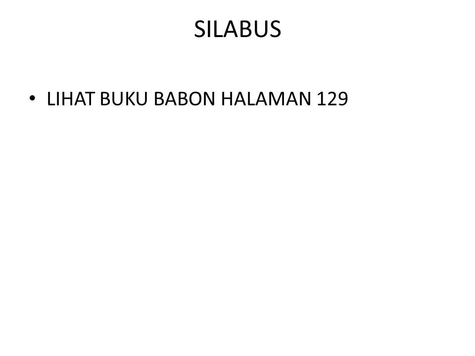 SILABUS LIHAT BUKU BABON HALAMAN 129