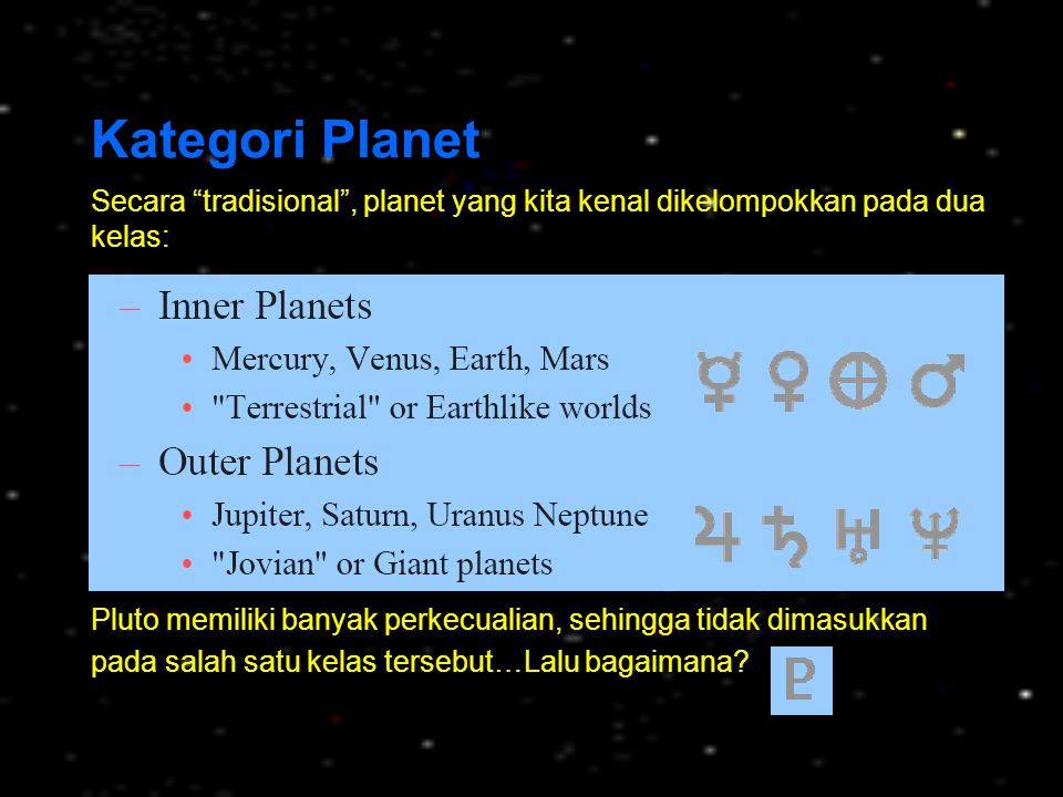Saturnus Saturnus merupakan planet ke enam dari Matahari, mengorbit pada jarak rata-rata 9,54 satuan astronomi (1429,4 juta km).