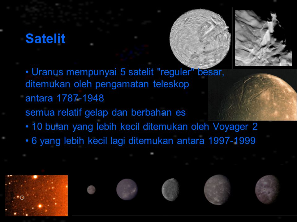 Satelit Uranus mempunyai 5 satelit