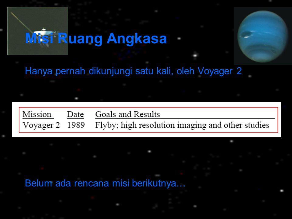 Misi Ruang Angkasa Hanya pernah dikunjungi satu kali, oleh Voyager 2 Belum ada rencana misi berikutnya…