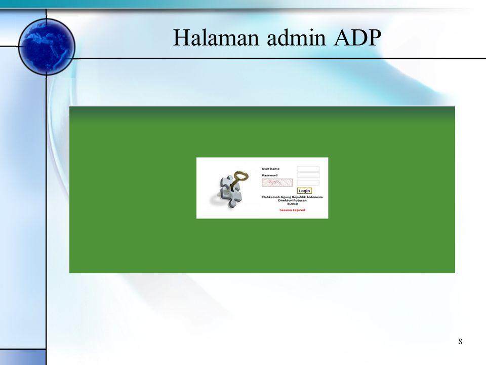 8 Halaman admin ADP