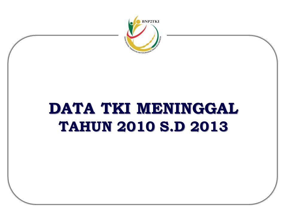 DATA TKI MENINGGAL TAHUN 2010 S.D 2013