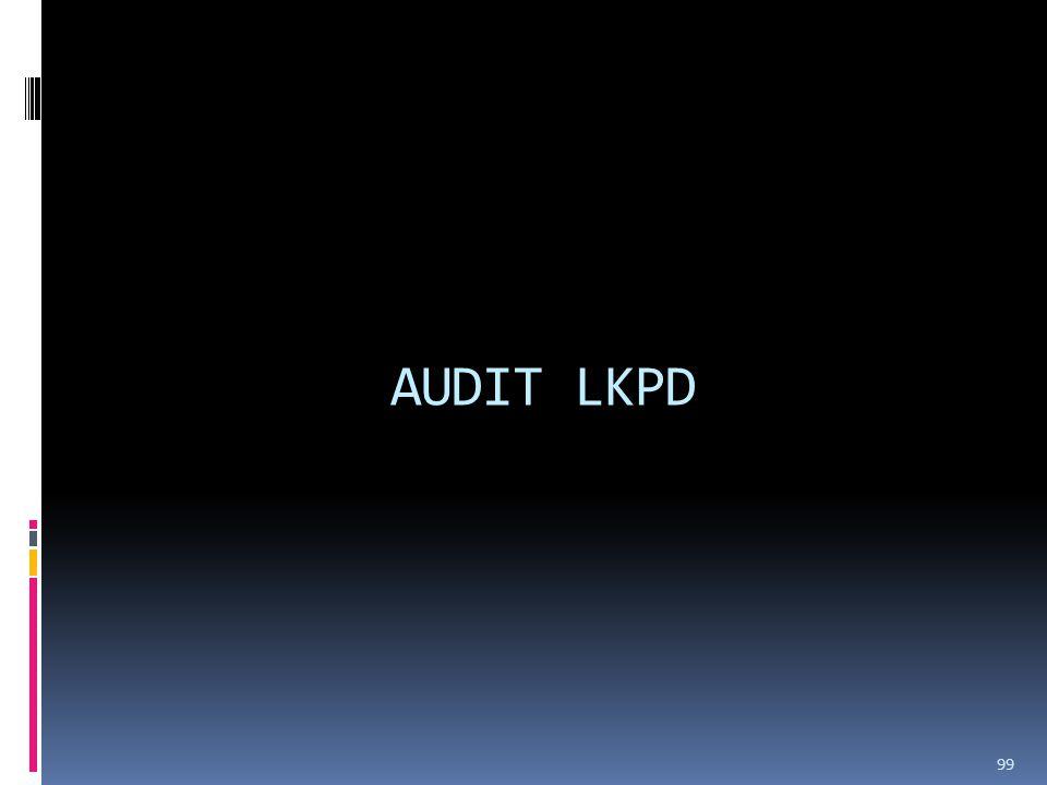 AUDIT LKPD 99