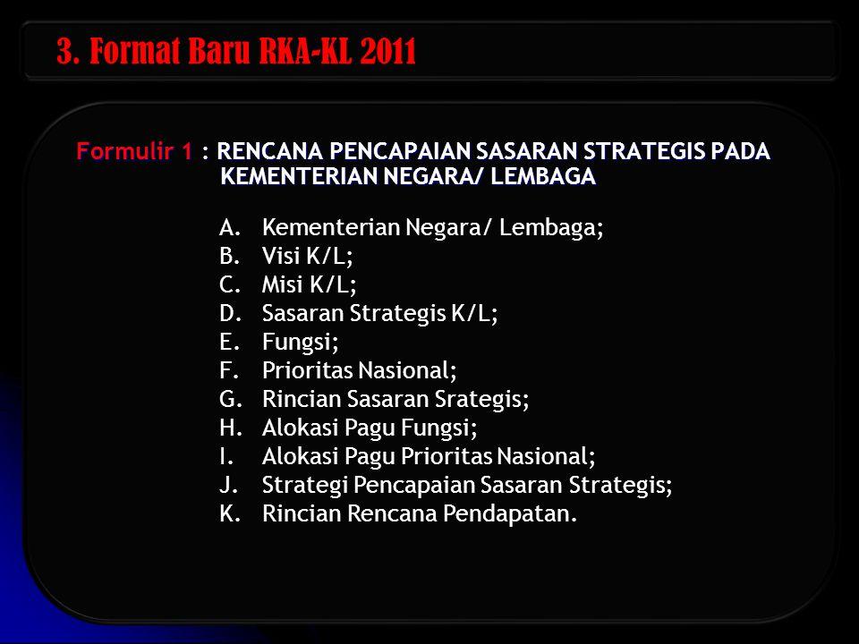 Formulir 2 : RENCANA PENCAPAIAN HASIL (OUTCOME) UNIT ORGANISASI A.Kementerian Negara/ Lembaga; B.Unit Organisasi; C.Misi Unit Organisasi; D.Sasaran Strategis K/L; E.Program; F.Hasil (outcome); G.Indikator Kinerja Utama Program; H.Rincian Program; I.Alokasi Pagu Fungsi; J.Alokasi Pagu Prioritas Nasional; K.Biaya Program; L.Strategi Pencapaian Hasil (Outcome); M.Rincian Rencana Pendapatan.